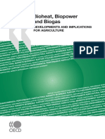 Bioheat, Biopower and Biogas - Developments and Implications for Agriculture