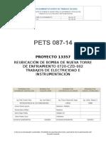 Pets 087-14 Reubicación de Bomba de Nueva Torre de Enfriamiento 0720-Czd-002 r.1