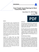 Advancements in Force Transfer Around Opening - SEAOC