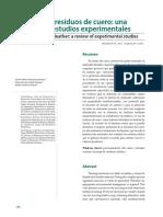 Reciclaje de Residuos de Cuero, Una Revisión de Estudios Experimentales