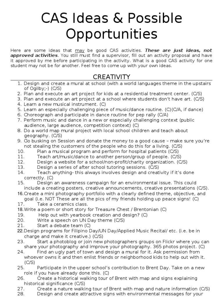 ib cas reflective essay examples | mistyhamel