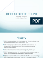 Reticulocyte Count for MBBS students