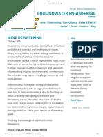Blog _ Mine Dewatering