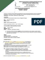 Exames de Capacitacao Ator Atriz DEZEMBRO de 2015