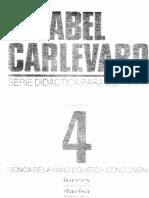 Abel Carlevaro - Cuaderno 4 - Técnica mano izquierda (conclusión)