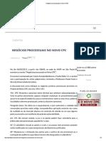 » Negócios Processuais No Novo CPC