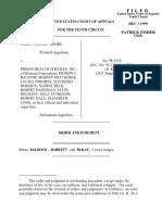 Moore v. Prison Health Serv., 10th Cir. (1999)