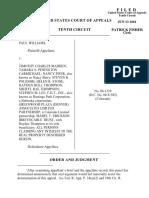 Williams v. Madden, 10th Cir. (2001)
