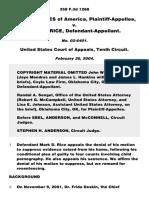 United States v. Rice, 358 F.3d 1268, 10th Cir. (2004)