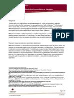 Med Rec at Admission Guidelines