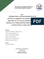 Informe Final Farmacologia