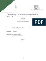 Derecho y Razonamiento Practico en c.s. Niño