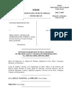 Andalex Resources, Inc. v. MSHA, 10th Cir. (2015)