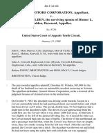 General Motors Corporation v. Dorethea M. Walden, the Surviving Spouse of Homer L. Walden, Deceased, 406 F.2d 606, 10th Cir. (1969)