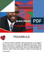 Vision de Jean-Henry Céant