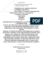 Denver Metropolitan Association of Plumbing, Heating, Cooling Contractors, a Colorado Corporation and Mechanical Contractors' Association of Colorado, a Colorado Corporation, Plaintiffs v. Journeyman Plumbers & Gas Fitters Local No. 3 & Pipefitters Local No. 208 of the United Association of Journeymen & Apprentices of the Plumbing& Pipefitting Industry of the United States and Canada (Afl-Cio), Richard T. Crabb, Ronald Solomon, Carl Reid, Don Beatty, Individually and as Members of the Denver Plumbers Joint Apprenticeship Committee, Dave Schoen, Larry Schaap, H. J. Hall, Charles Recene, Jack Schofield, Gerald Emerick, Steve Silva, Harold Mowery, Individually and as Members of the Denver Pipe Fitters Joint Apprenticeship Committee, Al Kitzelman, Bill Wafer, Paul Emerick, Bud Hutto, Individually and as Trustees of the Denver Pipe Industry Vacation Fund, 586 F.2d 1367, 10th Cir. (1978)