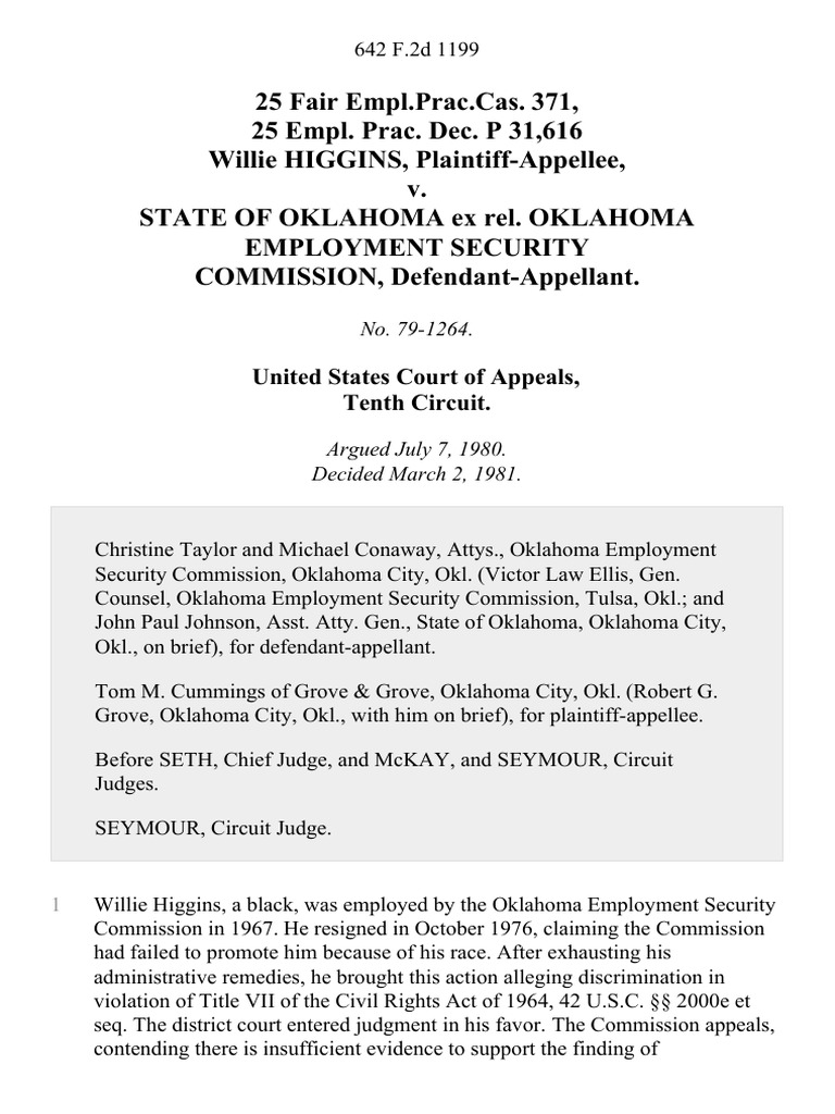 Oklahoma state employment commission