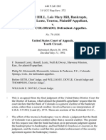 Jerry David Hill, Lois Mary Hill, Bankrupts, F. Stannard Lentz, Trustee v. Bank of Colorado, 648 F.2d 1282, 10th Cir. (1981)