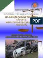 Automóviles y mercaderías en remate en Aduanas