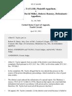 Albert E. Taylor v. James Wallace, David Miller, Dolores Ramsey, 931 F.2d 698, 10th Cir. (1991)