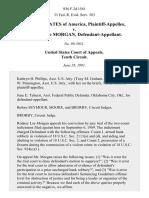 United States v. Rodney Lee Morgan, 936 F.2d 1561, 10th Cir. (1991)