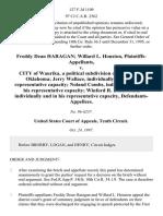 Freddy Dean Haragan Willard L. Houston v. City of Waurika, a Political Subdivision of the State of Oklahoma Jerry Wallace, Individually and in His Representative Capacity Noland Combs, Individually and in His Representative Capacity Winford R. Bickerstaff, Individually and in His Representative Capacity, 127 F.3d 1109, 10th Cir. (1997)