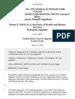 56 soc.sec.rep.ser. 354, Medicare & Medicaid Guide P 46,199 St. Mark's Charities Liquidating Trust, George E. Bates, Trustee v. Donna E. Shalala, Secretary of Health and Human Services, 141 F.3d 978, 10th Cir. (1998)