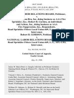 National Labor Relations Board v. I.W.G., Inc. Con-Bru, Inc. Doing Business as Aaa Fire Sprinkler, Inc. Robert B. Gordon, an Individual and Arlene, Inc., Doing Business as Aaa Fire Suppression, Inc., Road Sprinkler Fitters Local Union 669, U.A., Afl-Cio, Intervenor. Robert B. Gordon v. National Labor Relations Board, Road Sprinkler Fitters Local Union 669, U.A., Afl-Cio, Intervenor, 144 F.3d 685, 10th Cir. (1998)
