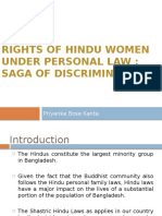 Absence of Rights Under Hindu Personal Law