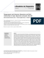 Temperament and character dimensions and their relationship to major depression and panic disorder