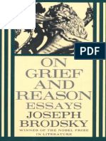 [Brodsky, Joseph] on Grief and Reason