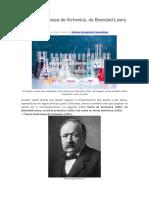 Teorias AcidoBase Arrhenius Brönsted Lowry e Lewis