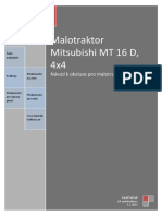 Malotraktor Mitsubishi MT16D