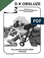 Pila Na Palivové Dříví PDP-600