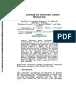 Deep Learning for Emotional Speech