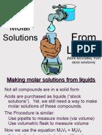 Molar Solutions Liquids