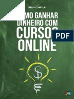 eBook Como Ganhar Dinheiro com Cursos Online Bruno avila