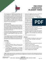 Horizontal Bladder Tank Pre Piped Arrangement