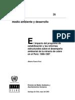 Impacto Del Programa de Estabilizacion y Las Reformas Desempeño Ambiental
