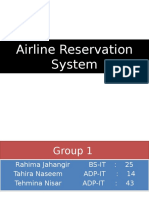 Airline Reservation IT Final