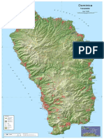 Dominica Topographic Map