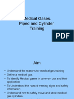 Medical Gases. Piped and Cylinder Training. Aim Understand the Reasons for Medical Gas Training