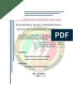 TESIS - UNIVERSIDAD NACIONAL DE LOJA Área Jurídica, Social y Administrativa Carrera de Contabilidad y Auditoría