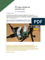 Raspberry PI Como Sistema de Videovigilância Low Cost