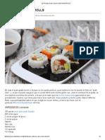 Las Recetas de Mj_ Sushi California Rolls