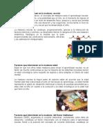 Factores Que Intervienen en La Madurez Escolar