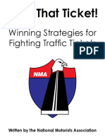 Motorists Guide to Fighting Traffic Tickets