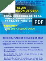 Cuaderno de Obra (Ing. Luis Colonio)