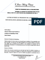 lettre a Michel Martelly
