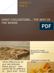 u3 l1 ppt early civilizations - the why of the where